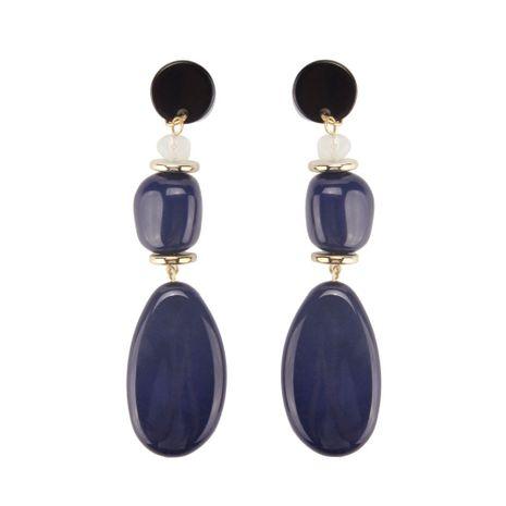 Plastic Fashion Geometric earring  (Navy blue) NHJQ10866-Navy-blue's discount tags