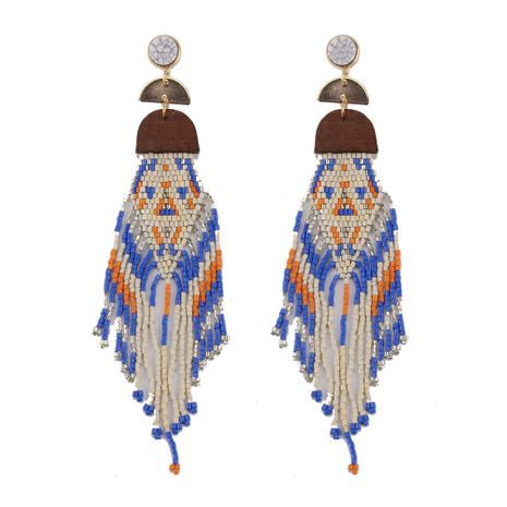 Beads Fashion Geometric earring  (blue) NHJQ10880-blue's discount tags