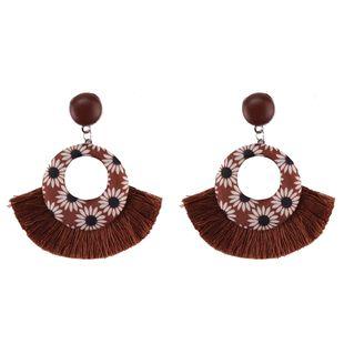 Plastic Fashion Tassel earring  (A dark coffee color) NHJQ10882-A-dark-coffee-color's discount tags