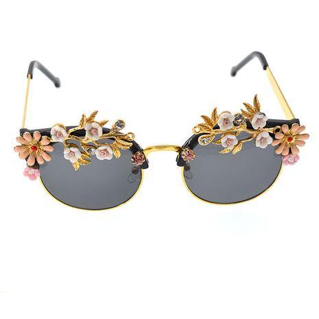 Alloy Vintage Flowers glasses  (black) NHNT0667-black's discount tags