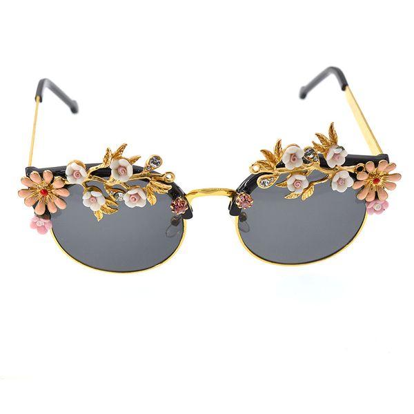Alloy Vintage Flowers glasses  (black) NHNT0667-black