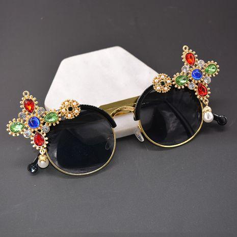 Alloy Vintage  glasses  (black) NHNT0671-black's discount tags
