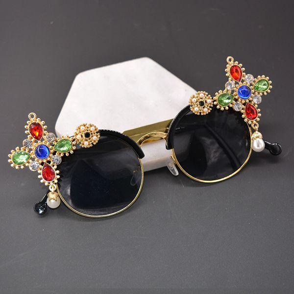 Alloy Vintage  glasses  (black) NHNT0671-black