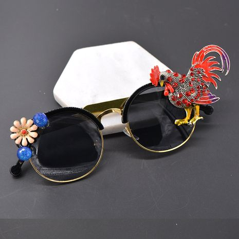 Alloy Vintage  glasses  (black) NHNT0677-black's discount tags