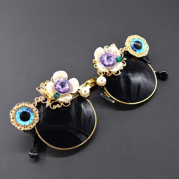 Alloy Vintage Flowers glasses  (black) NHNT0684-black