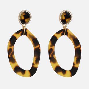 Acrylic Fashion Geometric earring  (1643 brown) NHWF3557-1643-brown's discount tags