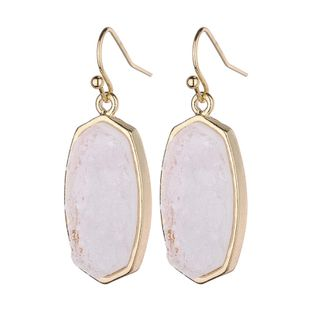 Plastic Fashion Geometric earring  (white) NHLU0007-white's discount tags