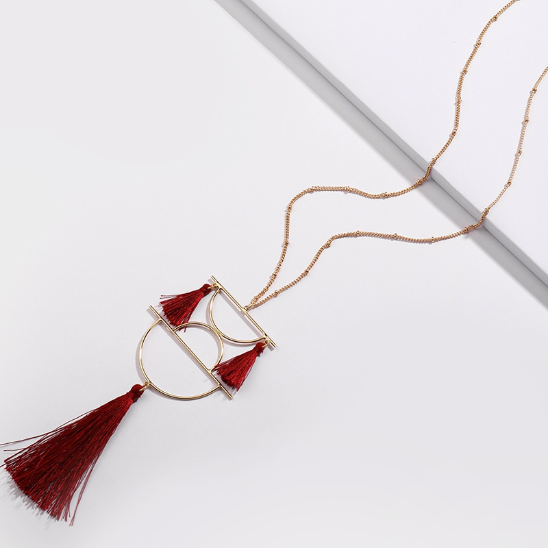 Alloy Fashion Flowers necklace  (red) NHLU0019-red