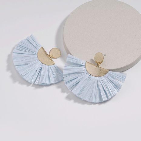Alloy Fashion Flowers earring  (blue) NHLU0022-blue's discount tags