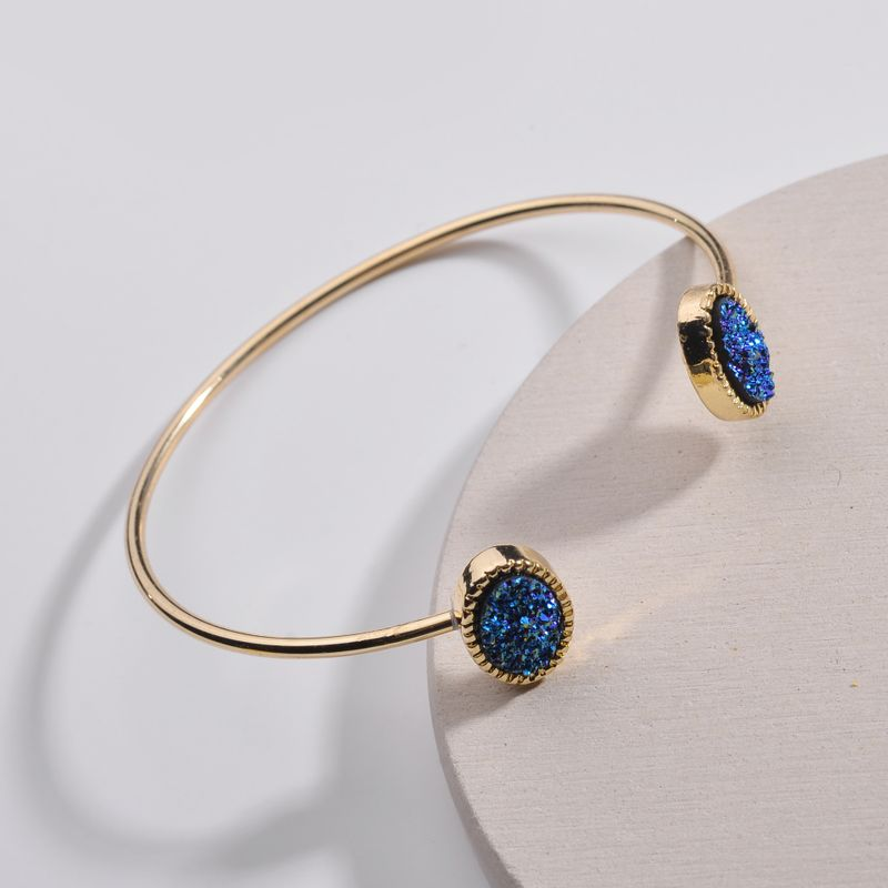 Alloy Fashion Geometric bracelet  (Blue light) NHLU0061-Blue-light