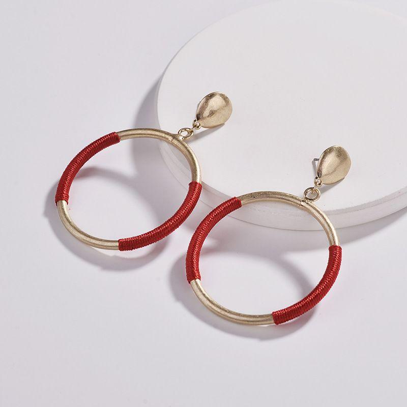 Alloy Fashion Geometric earring  (red) NHLU0063-red