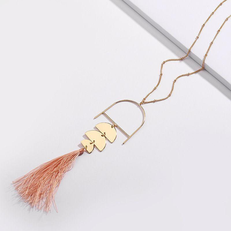 Alloy Fashion Flowers necklace  (powder) NHLU0115-powder