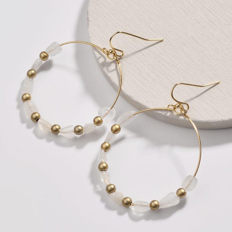 Alloy Fashion Cartoon earring  (white) NHLU0141-white