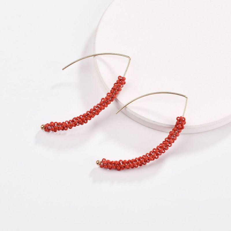 Alloy Fashion bolso cesta earring  (red) NHLU0152-red