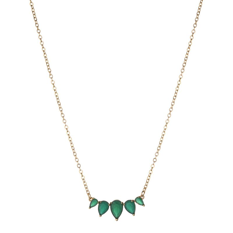 Alloy Fashion Flowers necklace  green NHLU0160green