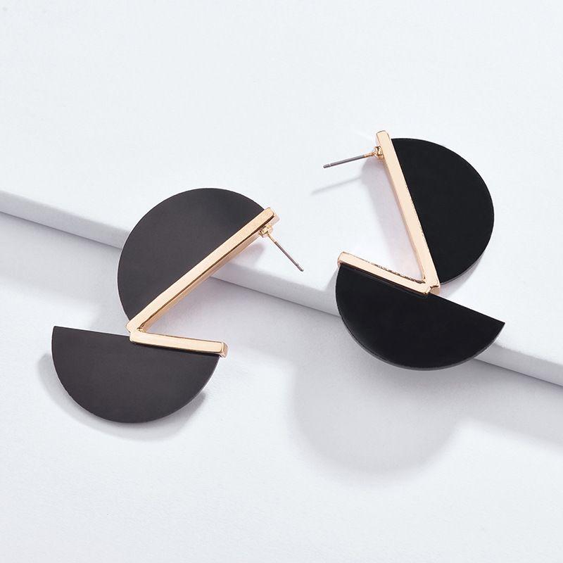 Alloy Fashion Geometric earring  (black) NHLU0167-black