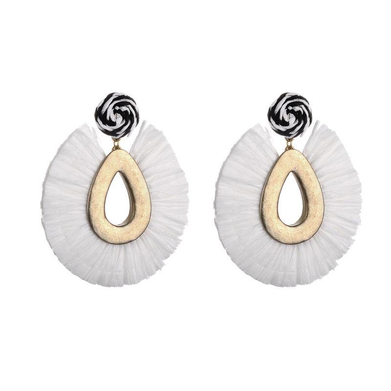 Alloy Fashion Flowers earring  white NHLU0253white