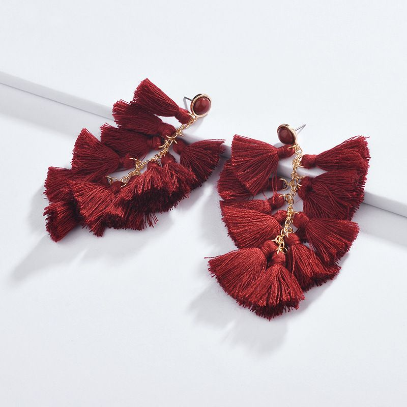 Alloy Fashion Flowers earring  red NHLU0297red
