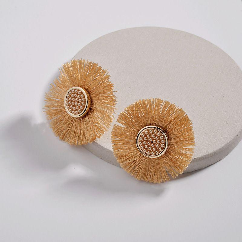 Alloy Fashion Flowers earring  yellow NHLU0306yellow