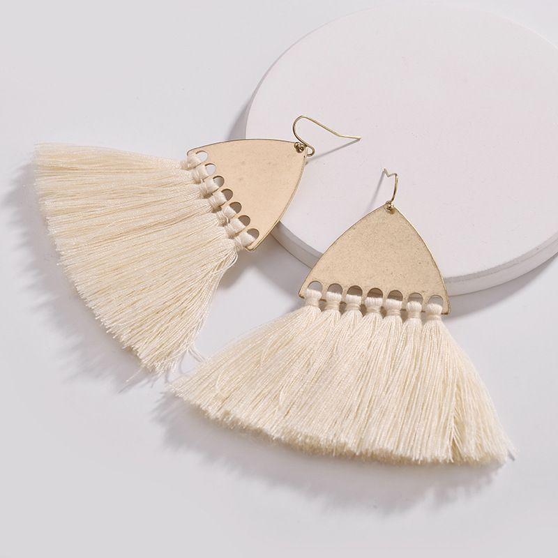 Alloy Fashion Tassel earring  white NHLU0341white