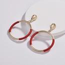 Alloy Fashion Geometric earring  red NHLU0063red