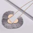 Alloy Fashion Tassel necklace  gray NHLU0072gray