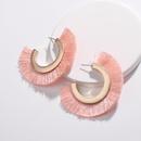 Alloy Fashion Tassel earring  white NHLU0080white