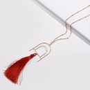 Alloy Fashion Flowers necklace  red NHLU0121red