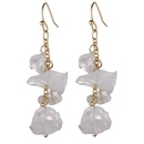 Alloy Fashion Geometric earring  white NHLU0135white