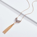 Alloy Fashion Tassel necklace  red NHLU0291red