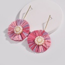 Alloy Fashion Flowers earring  red NHLU0298red