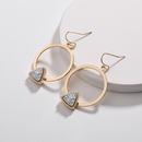 Alloy Fashion Flowers earring  AB NHLU0310AB