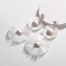 Alloy Fashion Flowers earring  white NHLU0323white