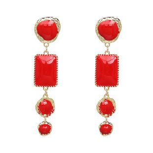 Alloy Fashion Geometric earring  (red) NHJJ5347-red's discount tags