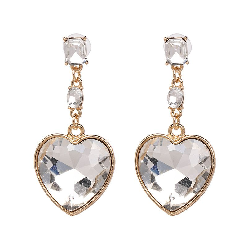 Alloy Fashion Sweetheart earring  (white) NHJJ5350-white
