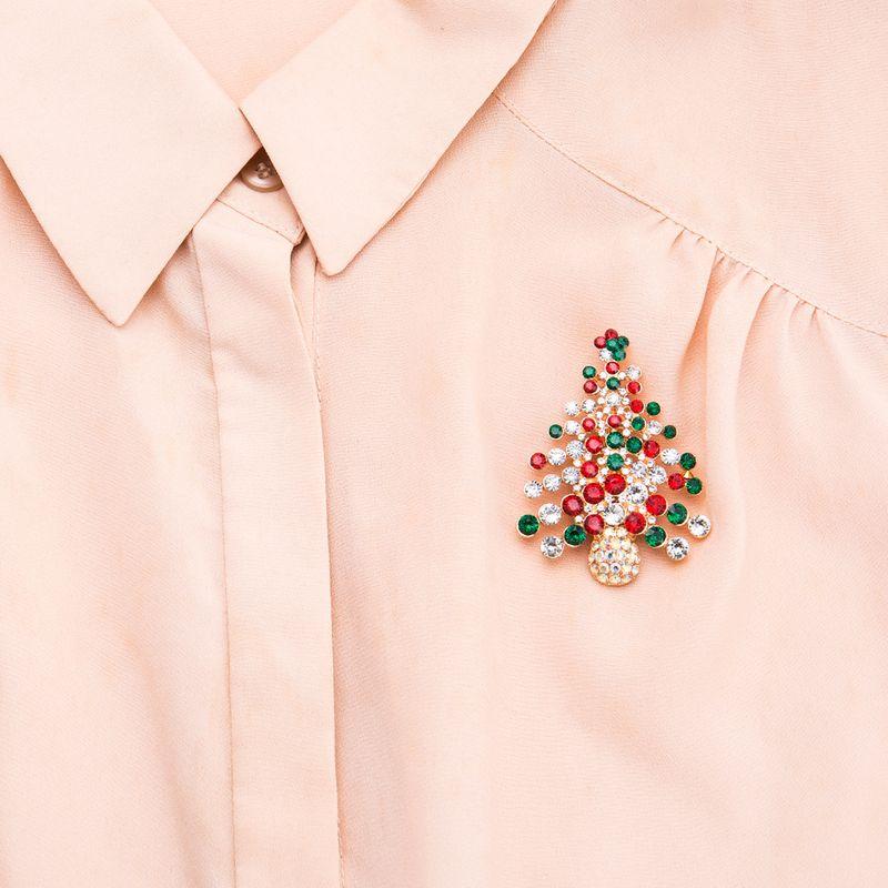 Acrylic Fashion Geometric brooch  (Christmas tree) NHJE2234-Christmas-tree
