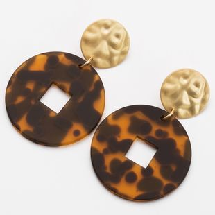 Alloy Fashion Geometric earring  (brown) NHJE2254-brown's discount tags