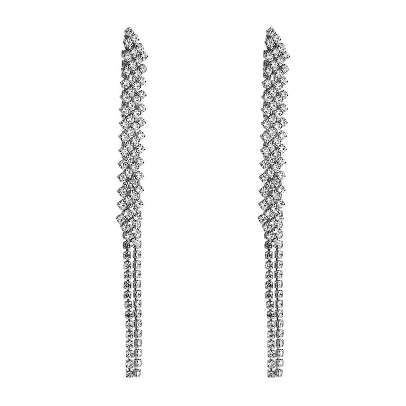 Alloy Korea Tassel earring  (Alloy) NHYT1377-Alloy