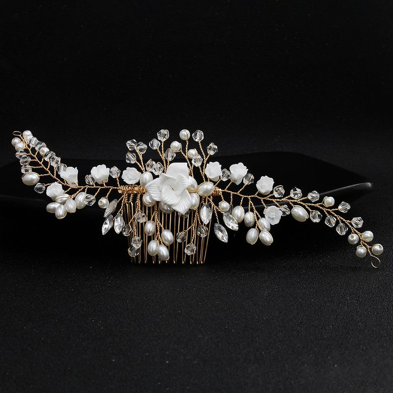 Imitated crystalCZ Fashion Flowers Hair accessories  Alloy NHHS0601Alloy