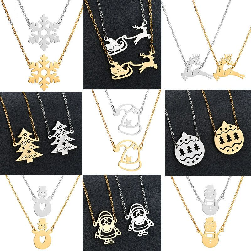 Titanium&Stainless Steel Fashion Geometric necklace  (Snowflake steel) NHHF1199-Snowflake-steel
