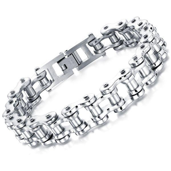 Titanium&Stainless Steel Fashion Geometric bracelet  (Steel long section 21.5) NHOP3099-Steel-long-section-21.5