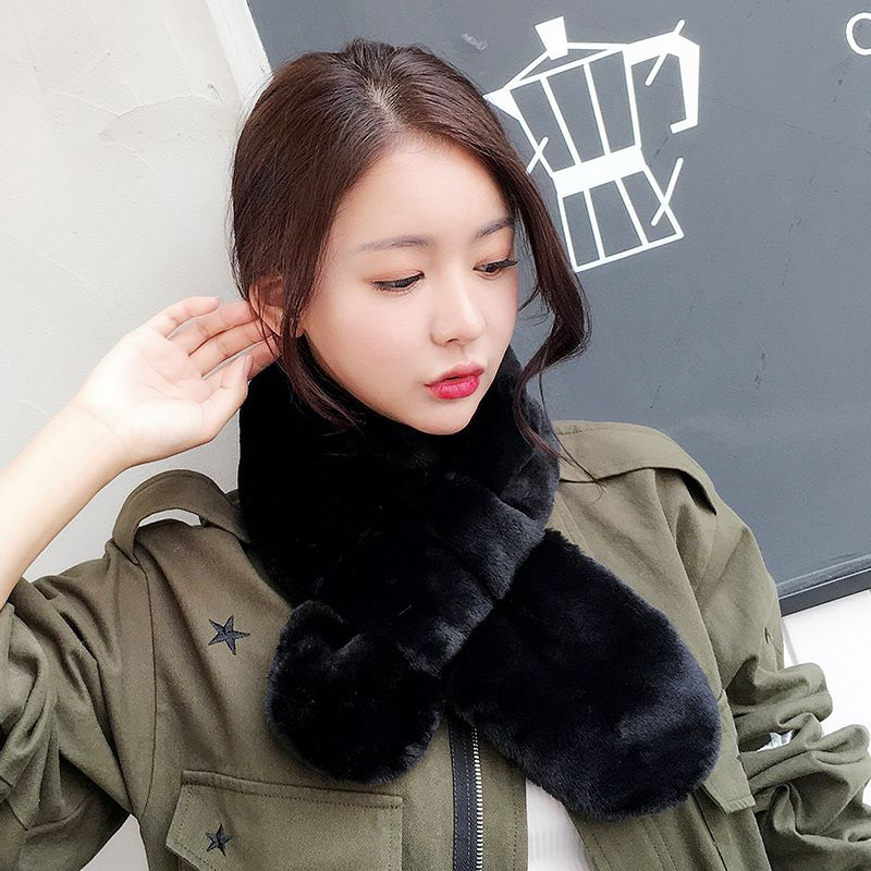 Cloth Korea  scarf  Black 1585cm NHCM1718Black1585cm