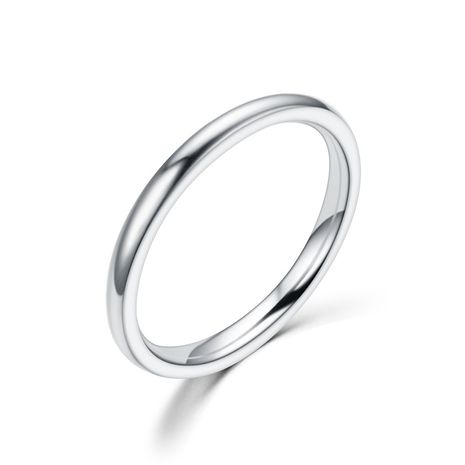 Titanium&Stainless Steel Fashion Geometric Ring  (2MM steel color-5) NHTP0017-2MM-steel-color-5's discount tags