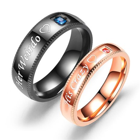 Titanium&Stainless Steel Fashion Geometric Ring  (Rose Alloy 5) NHTP0018-Rose-Alloy-5's discount tags