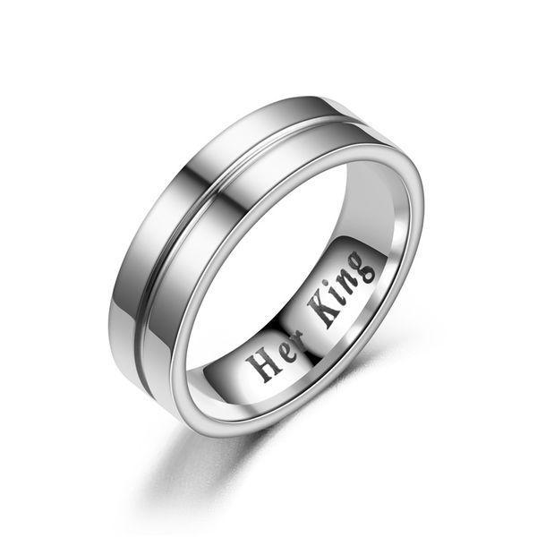 Titanium&Stainless Steel Fashion Geometric Ring  (No drill HERKING-5) NHTP0023-No-drill-HERKING-5
