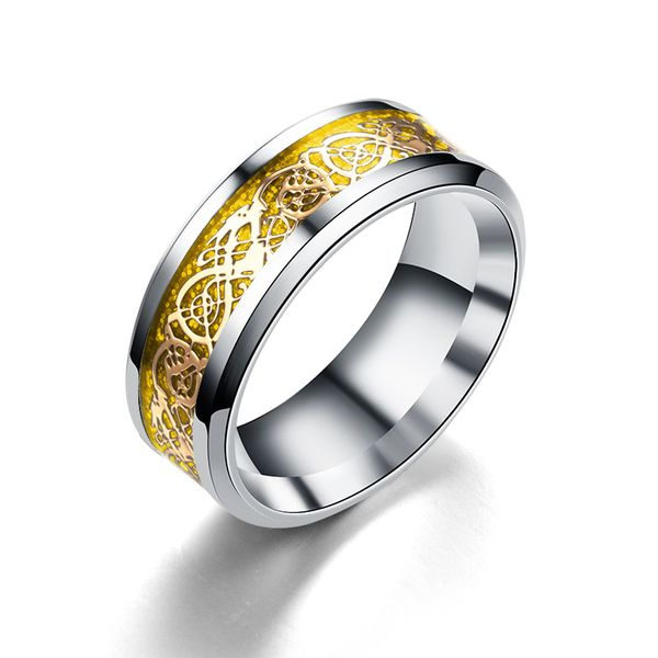 Titanium&Stainless Steel Fashion Geometric Ring  (8MM alloy bottom alloy piece-6) NHTP0051-8MM-alloy-bottom-alloy-piece-6