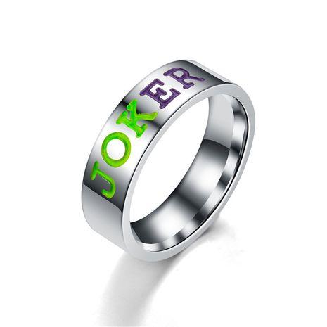 Titanium&Stainless Steel Vintage Sweetheart Ring  (JOKEY-6) NHTP0056-JOKEY-6's discount tags