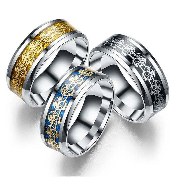 Titanium&Stainless Steel Fashion Geometric Ring  (8MM alloy bottom alloy piece-6) NHTP0069-8MM-alloy-bottom-alloy-piece-6