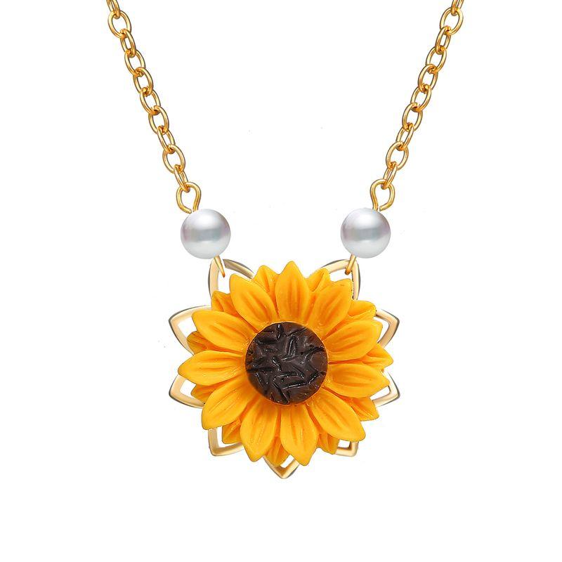 Alloy Fashion Flowers necklace  (Alloy GDD07-01) NHPJ0008-Alloy-GDD07-01