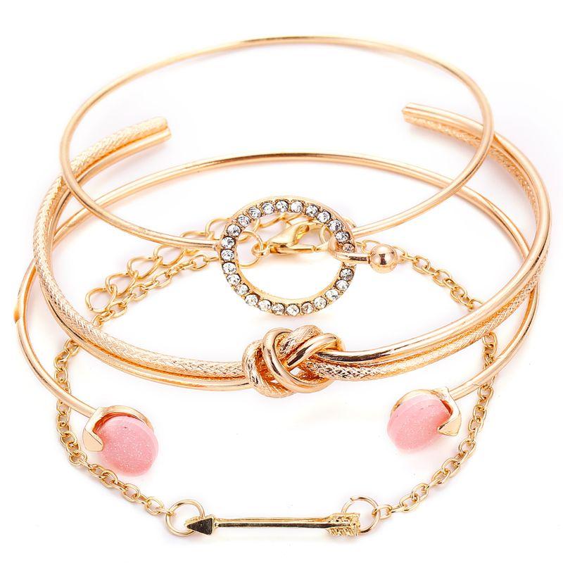 Alloy Fashion Geometric bracelet  (Alloy GFH03-04) NHPJ0018-Alloy-GFH03-04
